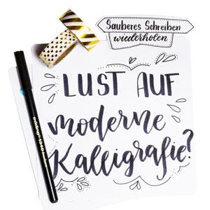 Lust auf moderne Kalligraphie? Online Video Workshop